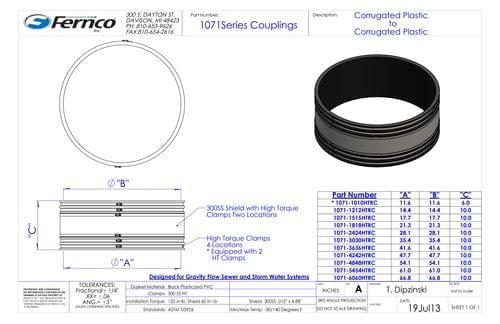 1071 Corrugated Series Couplings